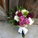 Rose and Burgundy Wedding Bouquet