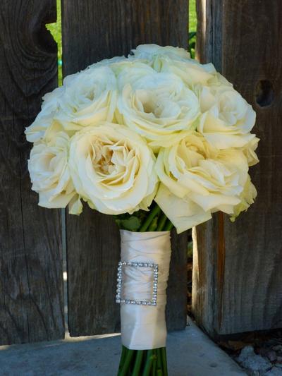 Ivory Bridal Floral Arrangement