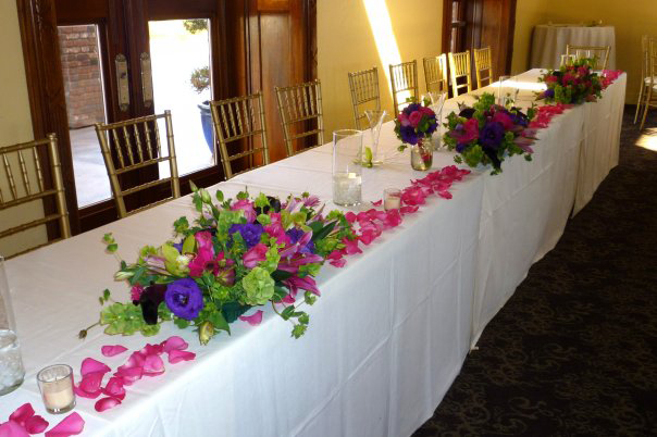 Wedding Reception Table Display