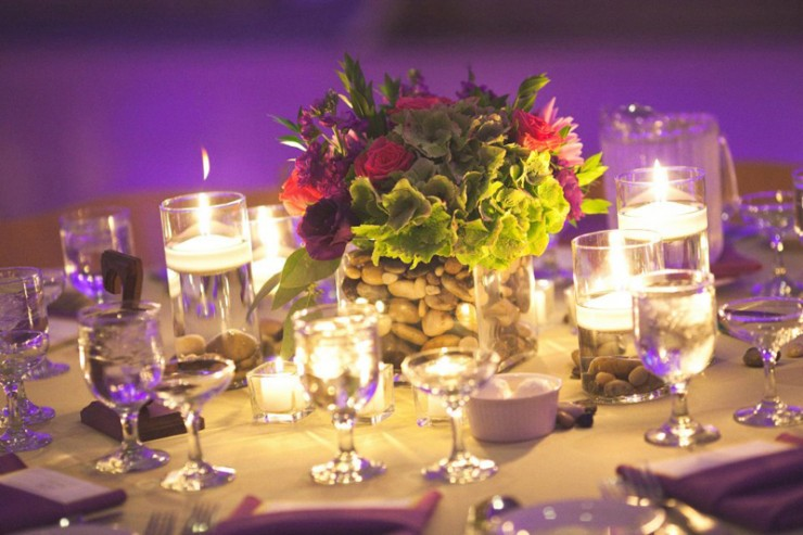 Purple and Pink Wedding Table Display