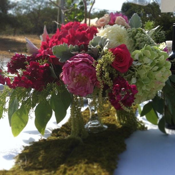 flowing garden centerpiece