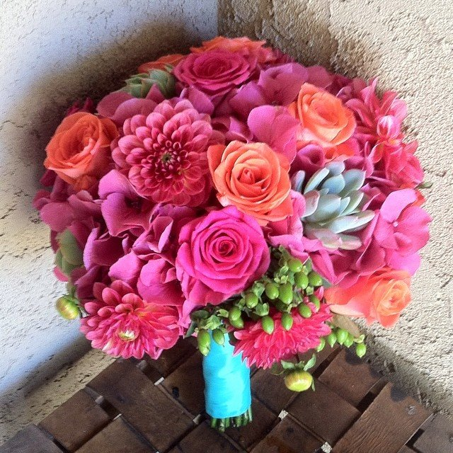 coral flowers wedding flowers